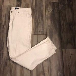 Anthropologie white skinny jean